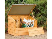 Store-Plus Garden Storage Boxes 4' X 3' Shiplap Storage Box