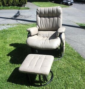 New Rocking Chair with Ottoman