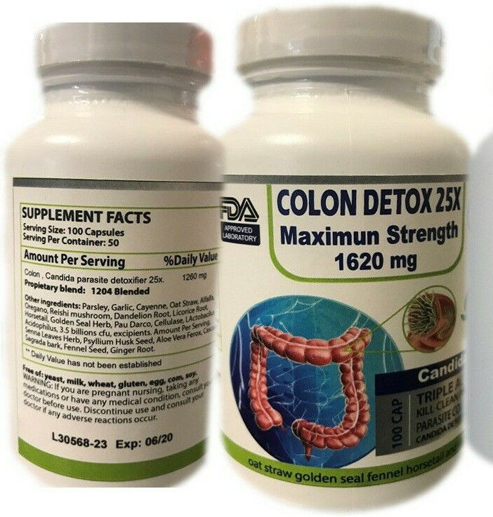 3 25 x CLEANSE PURE EXTRACT DETOX BODY CLEANSER COLON & WEIGHT LOSS 390 PILLS 1