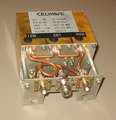 Celwave Uhf Duplexer 910-960 9-24 Mhz Split Tuned To 955.8959.4