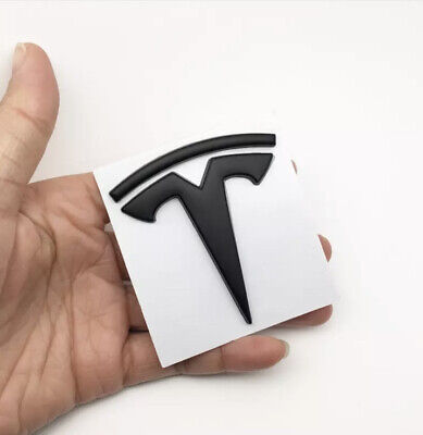 1  x Tesla Model X S 3 Y Car Emblem Badge Boot Body Panel Car Accessories BLACK