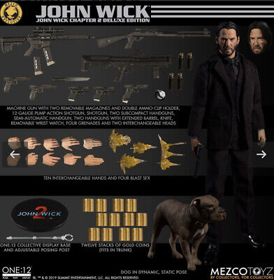 MEZCO ONE:12 COLLECTIVE JOHN WICK CHAPTER 2 DELUXE EDITION FIGURE SHIPPING SOON!