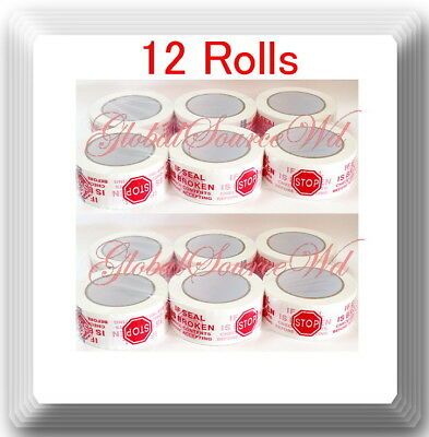 12 Rolls 2 X 110 Yds Security Seal Packing Tape If Seal Is Broken