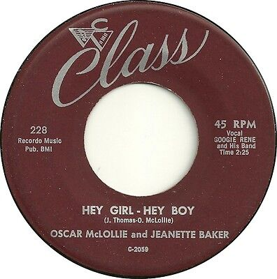 HEY GIRL- HEY BOY Oscar McLollie and Jeanette Baker *HOT R 'n' B jIVER*