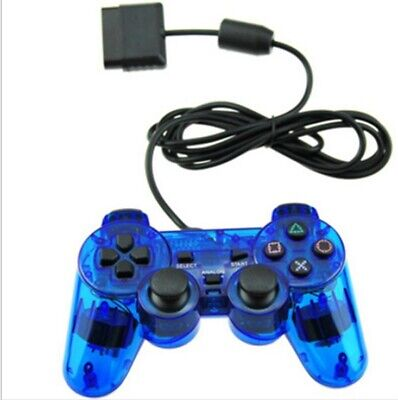 Playstation Game Pad Controller - Twin Shock Game Controller Joypad Pad for Sony PS2 Playstation 2 BLUE - USA