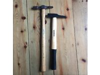 2x pin hammers- wooden handles