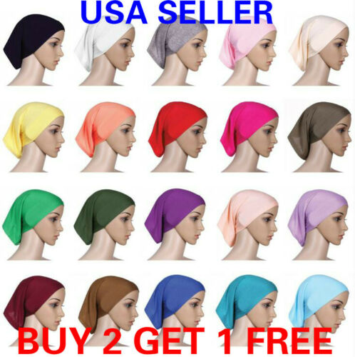 Muslim Head scarf Inner Hijab Caps Islamic Underscarf Ninja Scarf hat