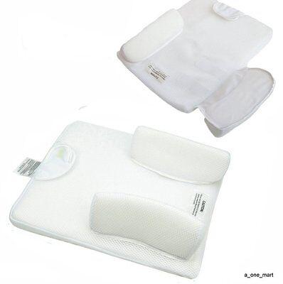 Baby Newborn Infant Anti Roll Pillow Sleep Positioner Prevent Flat Head Cushion