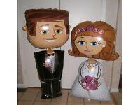 Wedding balloons Mr & Mrs Airwalkers Bride & Groom