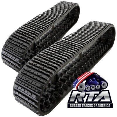 2 Rubber Tracks Fits Asv Sr80 Pt80 Rt75 18x4cx51 18 Wide Straight Bar Tread