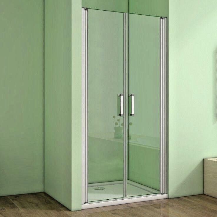 70-140cm Nischentür Pendeltür Dusche Schwingtür Glas Duschtür Duschabtrennung