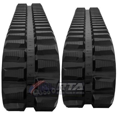 Two Rubber Tracks For Cat 307c 450x71x82 Free Shipping 18