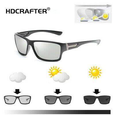 Photochromic Sunglasses Mens Polarized Eyewear Transition Lens Driving Glasses (Transition Eyewear)