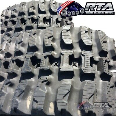Two Rubber Tracks For Case 450ct Tr320 Tv380 450x86x55 Q-tread