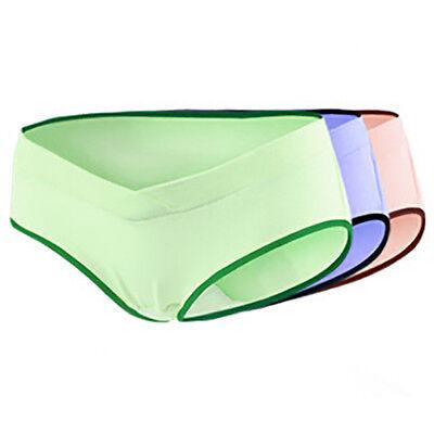 Women's Under Bump Maternity Panties Health Underwear Cotton Briefs 3 Pack Maternity Brief Panty
