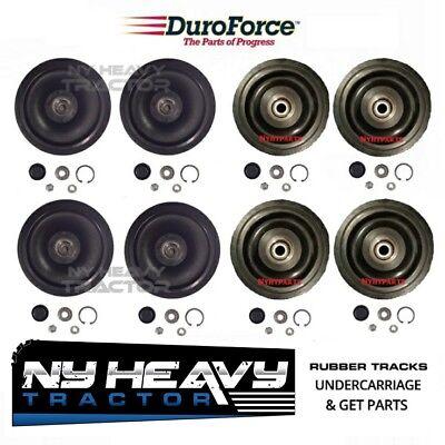 Front Rear Idler Wheel Kit Fits Cat Caterpillar 247 247b 257 257b Rubber Track