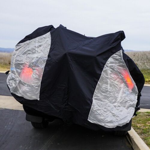 Travel Bike Cover for Transport on Rack w/ Large Translucent Ends - 3 Sizes