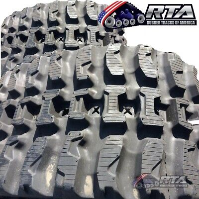 Two Rubber Tracks For Cat 248 246 236 W Loegring Vts 450x86x56 Q Tread Pattern