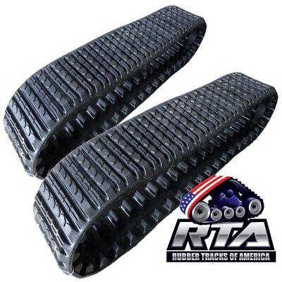 Two Rubber Tracks Fits Asv Rc50 Rc60 Pt50 Pt60 Sc50 15x4x42 Straight Bar Tread