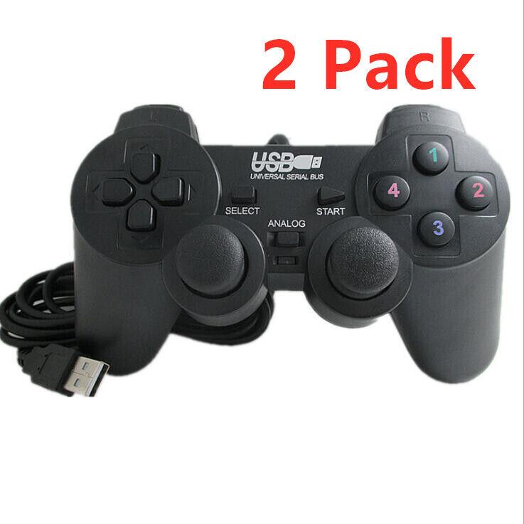 2 Pack PS USB Controller Gamepad Joystick for Raspberry Pi, RetroPie, WinPC, Mac Controllers & Attachments