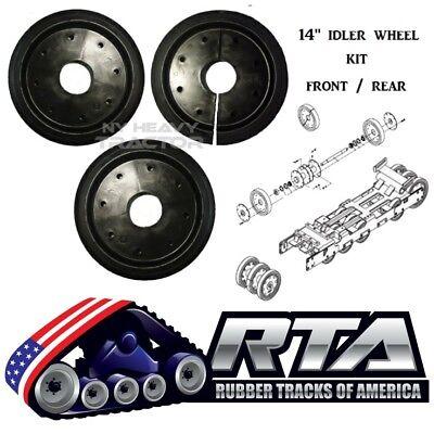 14 Duroforce Rubber Idler Wheel Kit Of 3 Front Rear For Asv Rcv Rc85 Rc100