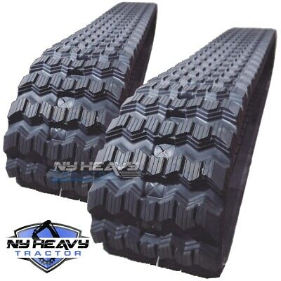 New Zig Zag Rubber Tracks Set Of Two For Bobcat T320 450x86x55 17.7
