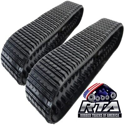 Two Rubber Tracks Fits Asv Rc85 Rc100 Rcv Pt100 18x4x51 Straight Bar Tread