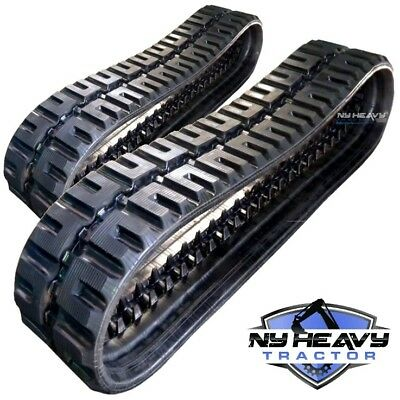 Two Ny Heavy Rubber Tracks Fits Cat 236 W Loegering Vts C-lug 450x86x56