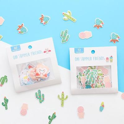 Scrapbooking Petals - 1pack Cartoon flamingo petal cactus scrapbooking sticker Decorative sticker