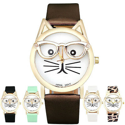 Hot Sale  Noble Cat Face Women Fashion Casual Analog Quartz Dial Wrist Watch
