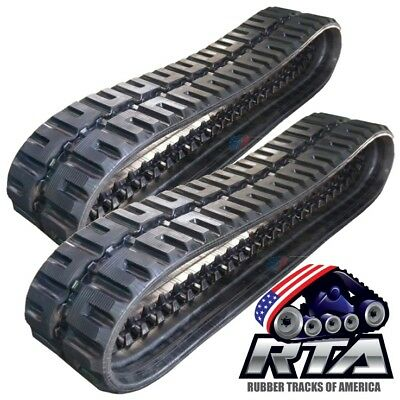 Two Rubber Tracks For Takeuchi Tl230 Tl230-2 320x86x52 C-lug Tread Free Shipping