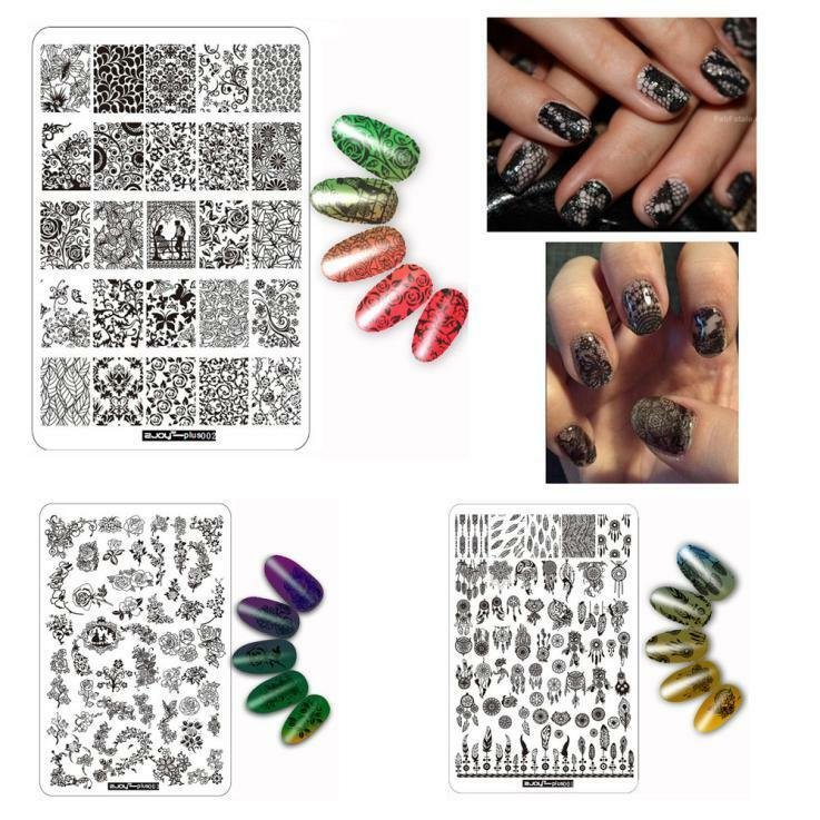 DIY Nail Art Nail Sticker Painted Plate Nail Polish Template Manicure Template