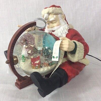 MR CHRISTMAS HOLIDAY SNOWFALL MUSICAL CHRISTMAS SANTA SNOW GLOBE 25 CAROLS WORKS