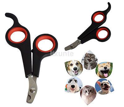 Pet Dog Cat Rabbit Nail Clippers Cut Nail Scissors Toe Trimmer Scissors Tool US