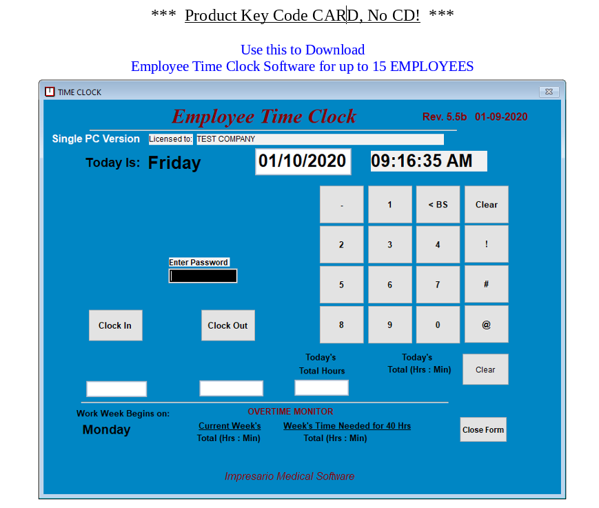 15 Employee Time Clock Software for Windows 7,8,10