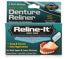 Dentemp D.O.C. Reline It Soft Denture Reliner Kit Advanced Repair Re-Liner