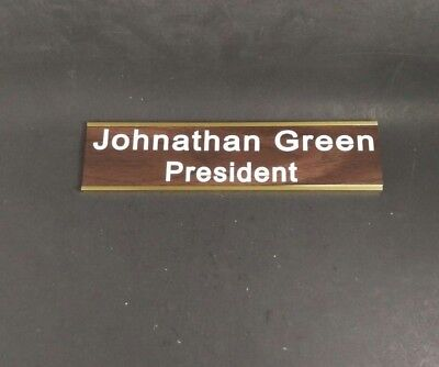CUSTOM ENGRAVED NAME PLATE, OFFICE DOOR PLATE WALL SIGN WITH HOLDER Engraved Wall Sign