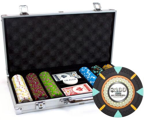 NEW 300 Claysmith The Mint 13.5 Gram Clay Poker Chips Aluminum Case Set Custom
