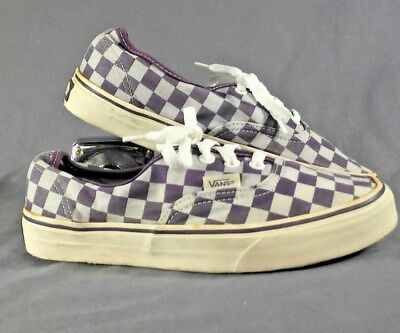 2e19568e01 Vans Off The Wall Vintage purple Checkerboard Lace Up Shoes Mens 5.5 Womans7