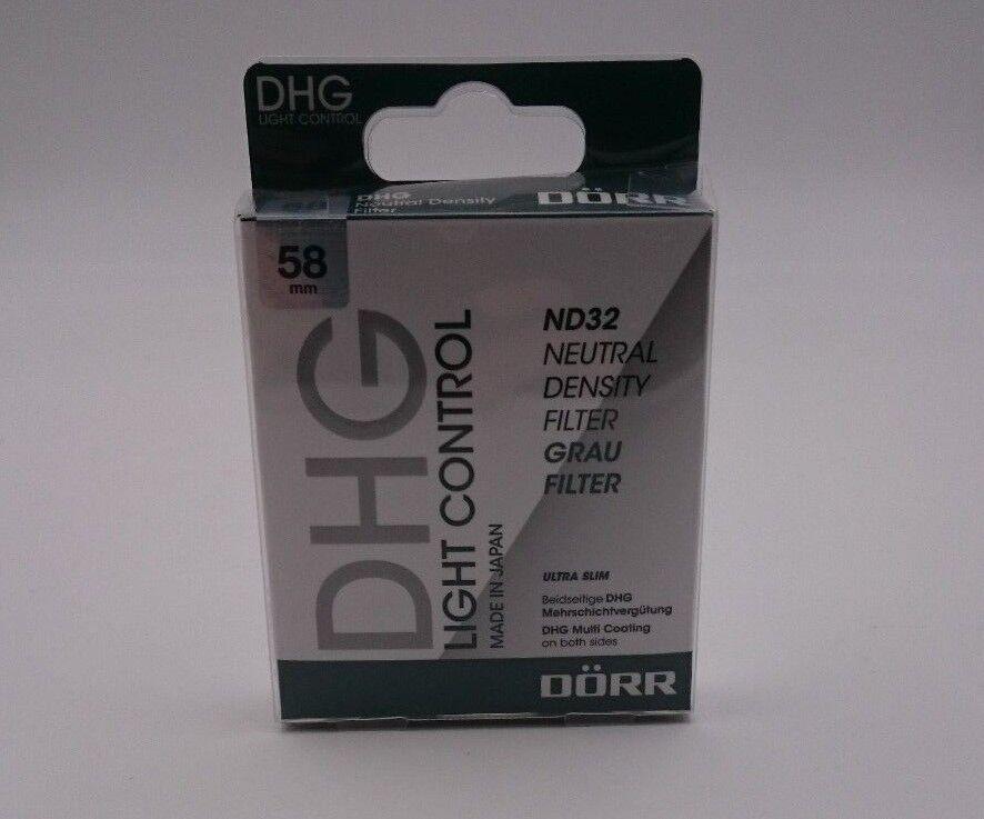 Dörr DHG Graufilter ND32 für Objektiv (58mm) Filter Digitalkameraszubehör