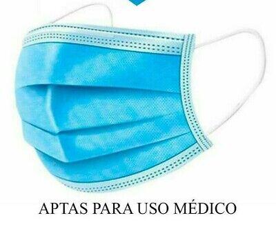 100 (2 CAJAS) MASCARILLAS QUIRURGICAS CERTIFICADO CE EN14683 APTAS USO MEDICO