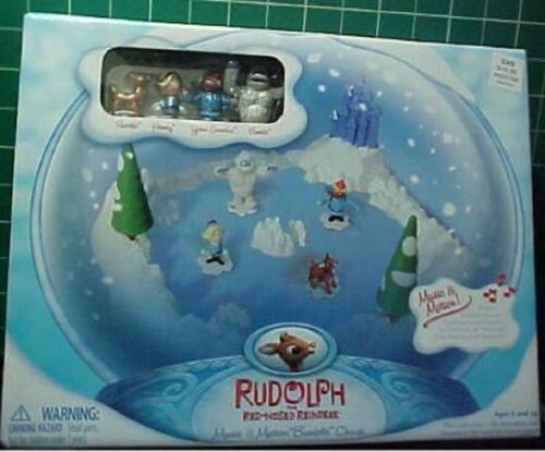 CVS Rudolph Red Nosed Reindeer Bumble Chase Music Motion Christmas Decoration