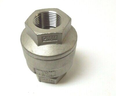 In-line Spring Check Valve 34 Npt 316 Stainless Steel 750 Cwp 1 Psi 307aa
