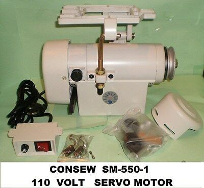 Consew Sm-550-1 New 34 Hp 110 Volt Servo Motor For Industrial Sewing Machine