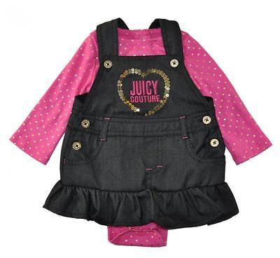 Juicy Couture Infant Girls 2pc Jumper Dress Set Size 3/6M 6/9M 12M 18M - Infant Couture Dresses