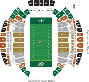 2 Tickets - Riders vs Blue Bombers - Labor Day Classic on Sept 3
