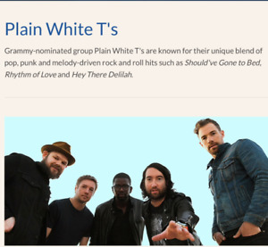 PLAIN WHITE T'S CONCERT TICKETS