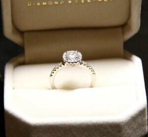 14 KT White Gold Diamond Engagement Ring - Just Reduced