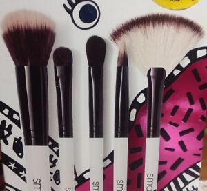 NIB Authentic 5 Full Size Smashbox Brushes  Set Value $157