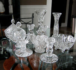 collection of vintage pinwheel crystal